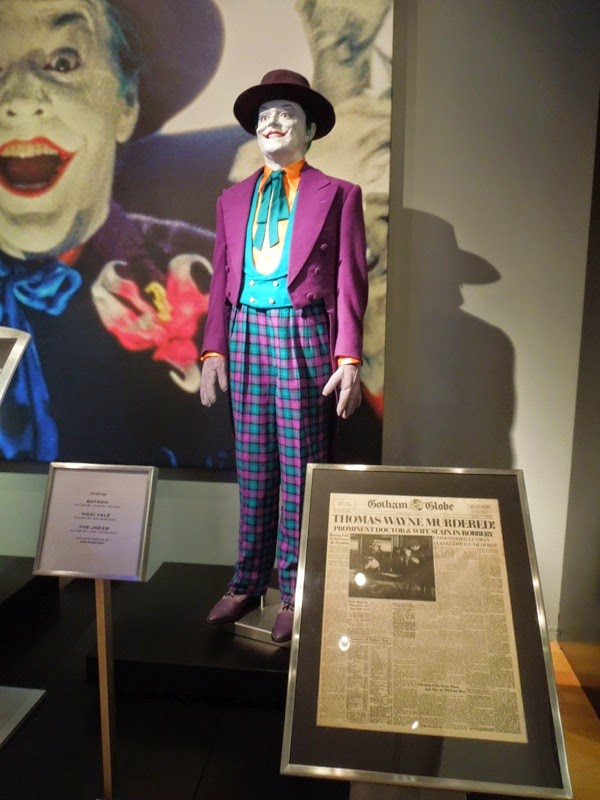 1989 Batman Joker costume Gotham Globe newspaper prop
