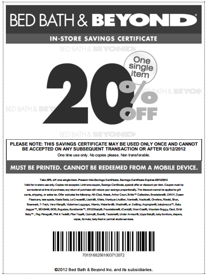 Bed Bath And Beyond Scan Coupon