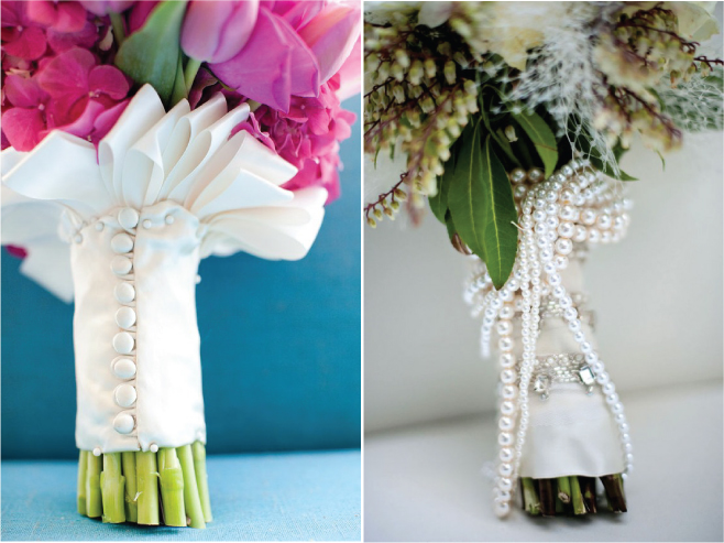 How To Use Bridal Bouquet Holder : Wedding bouquet wraps handles and holders inspiration