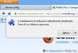 blocco installazione software Firefox