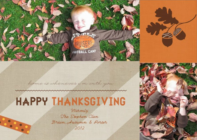 Porter's 2012 Thanksgiving Card