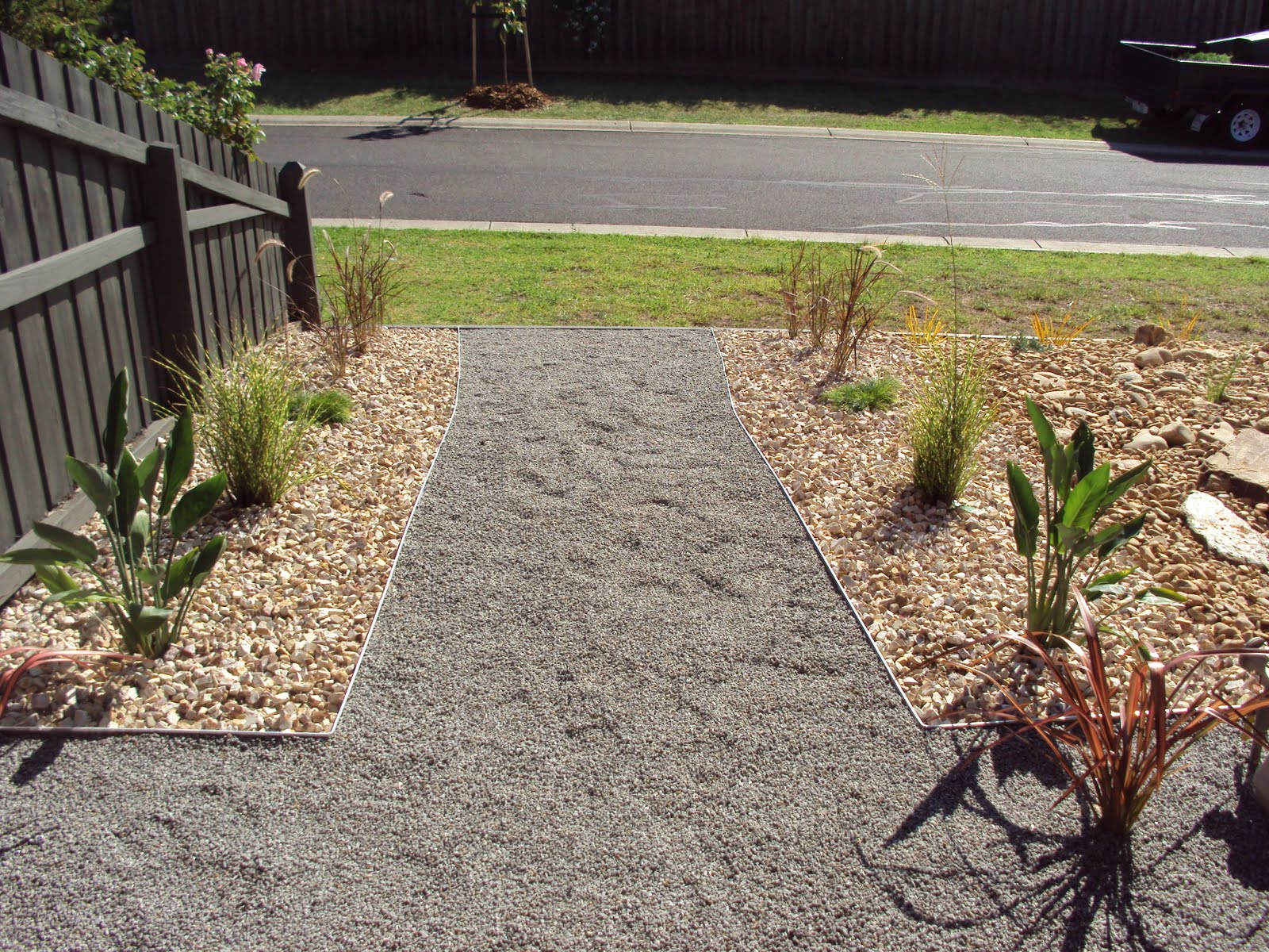 scorpio landscaping geelong simple rock garden and path