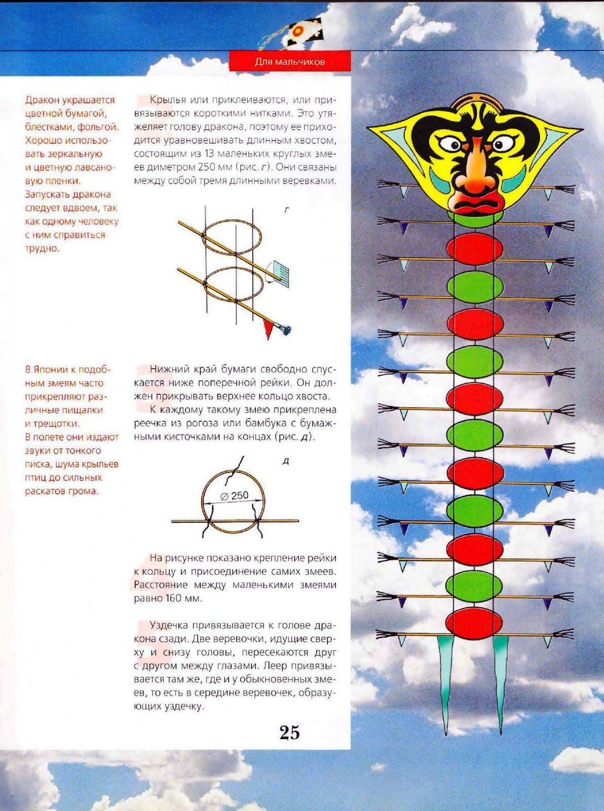 Как сделать воздушного змея? Инструкции, Схема, Фото 22