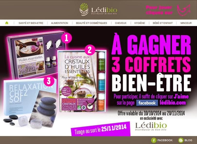 3 coffrets bien-être avec Ledibio