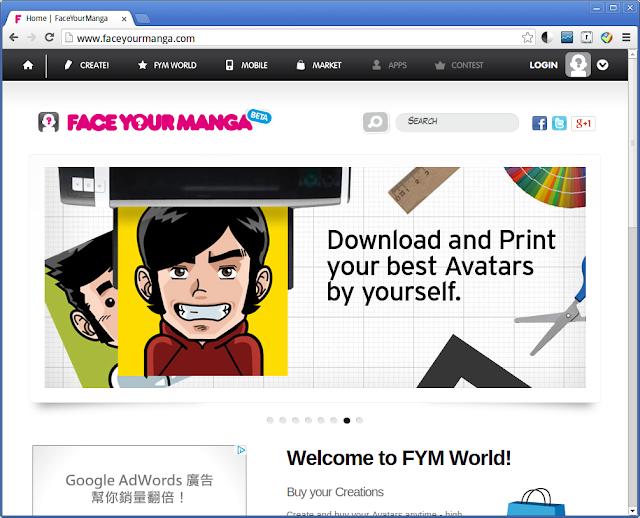 Face Your Manga -- 製作卡通大頭貼