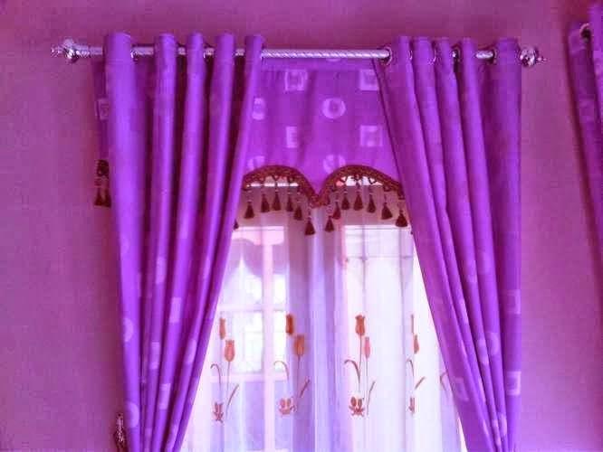 gorden rumah minimalis ungu