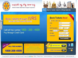apsrtc ticket online booking