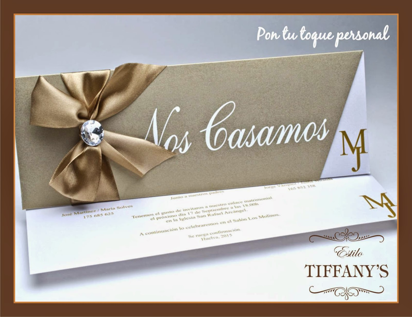 Invitación boda Tiffany elegante
