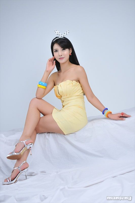 Cha Sun Hwa - Yellow Mini Dress