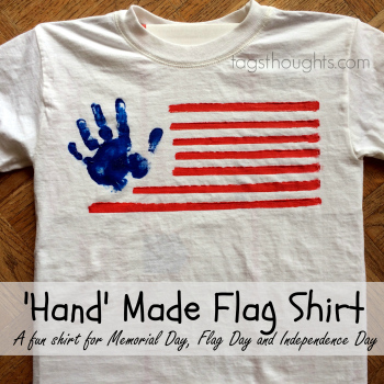 Hand Made Flag Shirt | 20 Crafts for the 4th of July - Independence Day DIYs | directorjewels.com