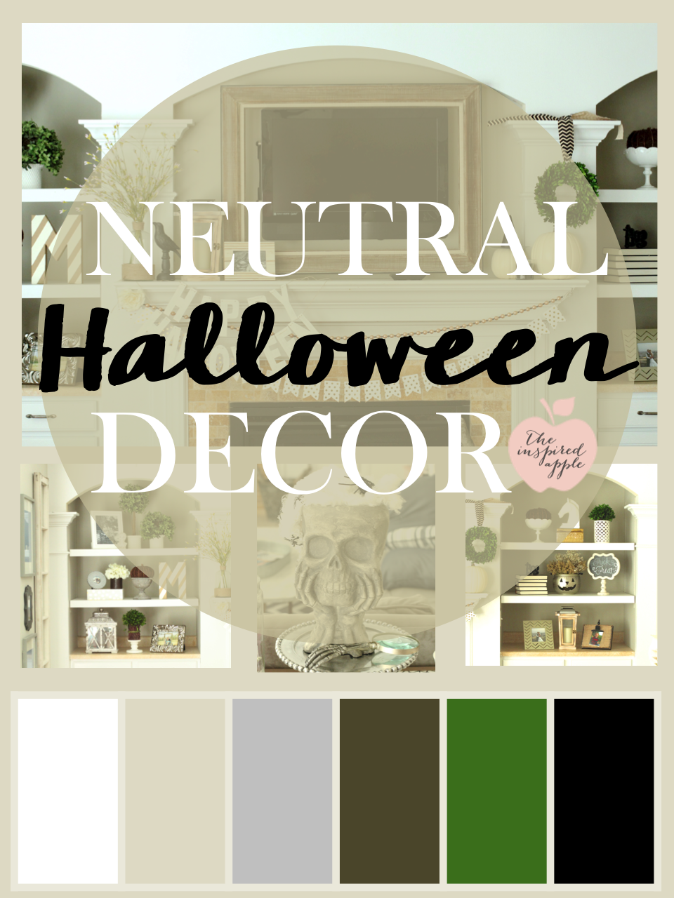 Neutral Halloween Decor The Inspired Apple