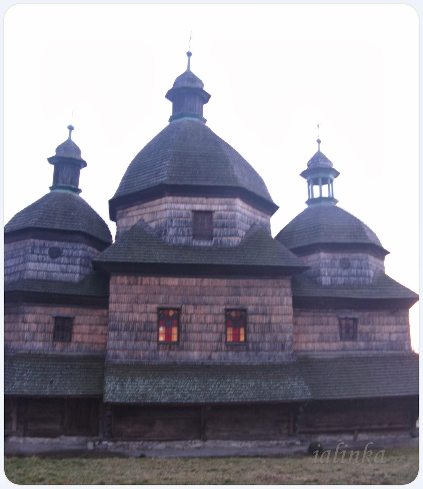 львов старинная  деревянная  церковь
