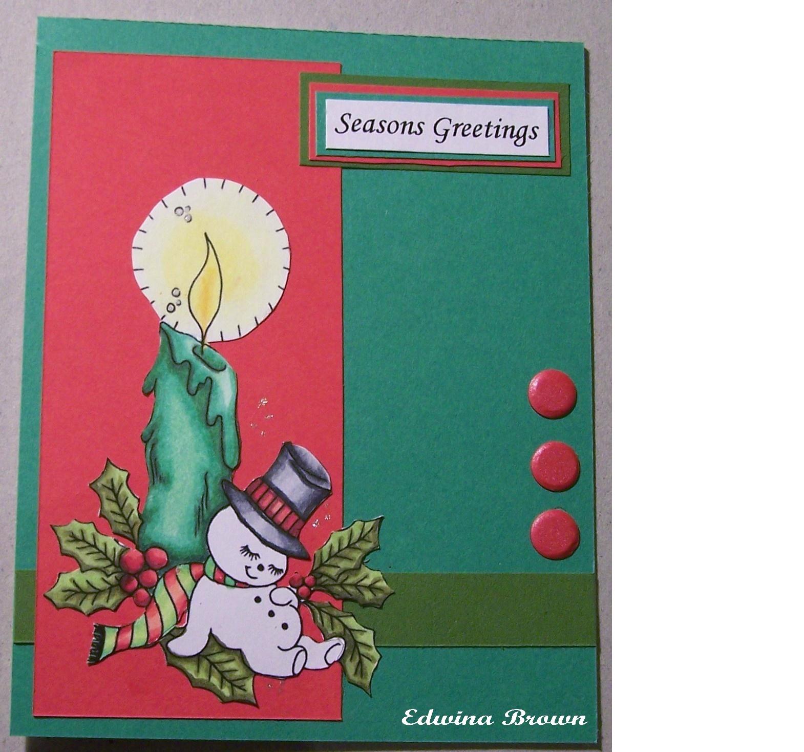 Edwinas Creations Seasons Greetings And Happy Holidays Cards