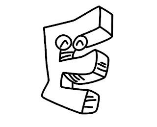 Alfabeto para colorir - Letra E colorir