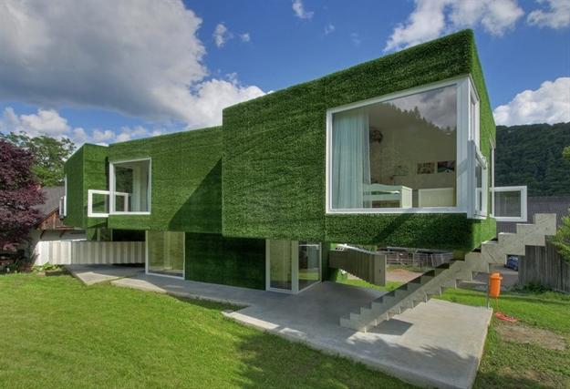 في النمسا واحد من أغرب المنازل التي شيدت وتم تغطيتها بالعشب الأخضر Grass-Covered-House-in-Frohnleiten-by-ORTIS-GmbH-20