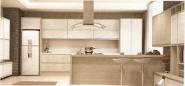 cozinha com depurado no  centro