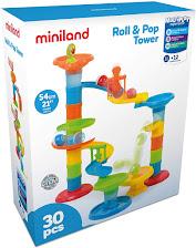 Miniland- Increíble Circuito de Bolas con Varios Niveles, Color Azul/Verde/Naranja/Amarillo/Rojo