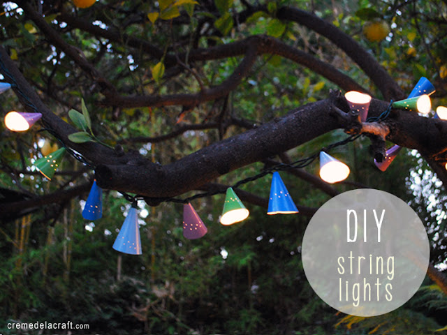 DIY: Cafe String Lights From Birthday Hats