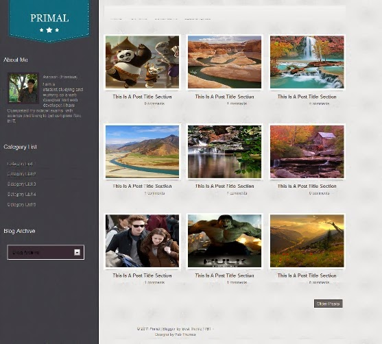 Primal Blogger Template