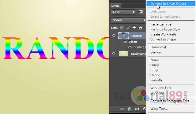Cara membuat tulisan random color dengan photoshop