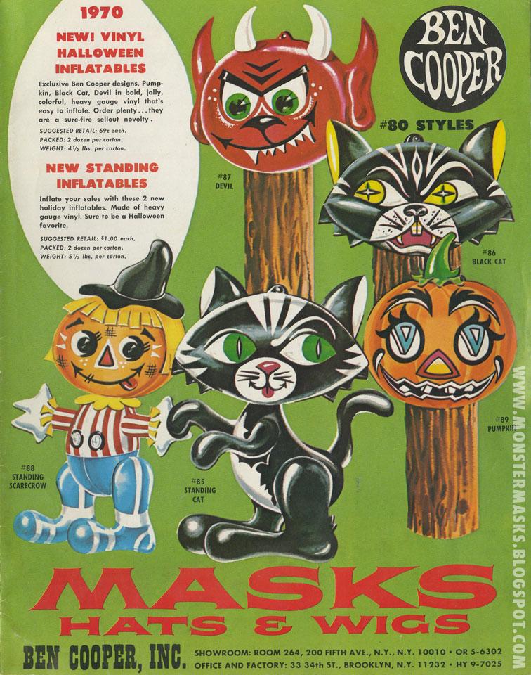 1970 ben cooper catalog blood curdling blog of monster masks - Halloween Catalog