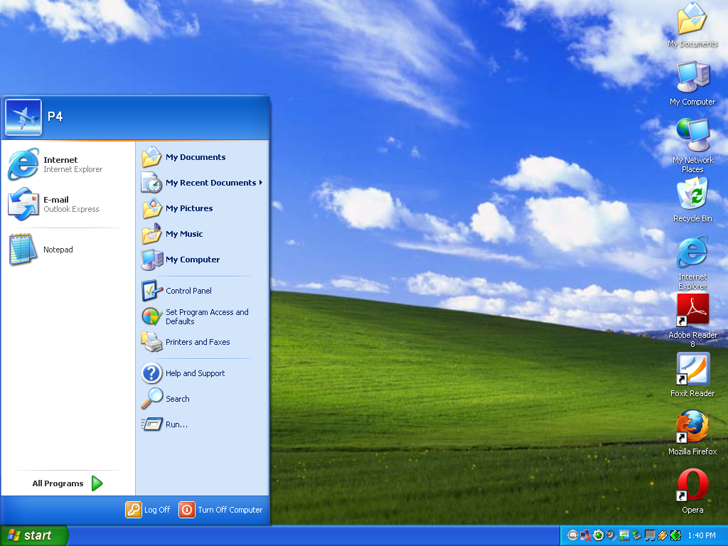 windows 7 desktop symbole
