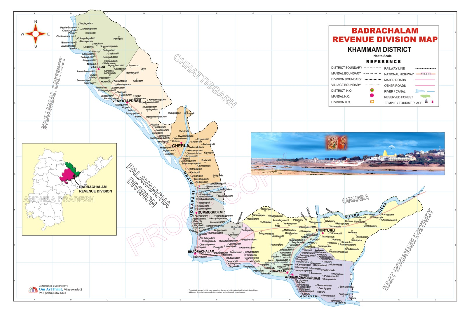 Sub-Collector's Office, Bhadrachalam: Bhadrachalam Division Map