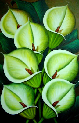 cuadros de flores al óleo pinturas flores óleo sobre lienzo