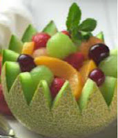 musk melon salad with grapes