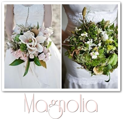 brudbukett magnolia, annorlunda brudbukett, magnolia, bouquet magnolia