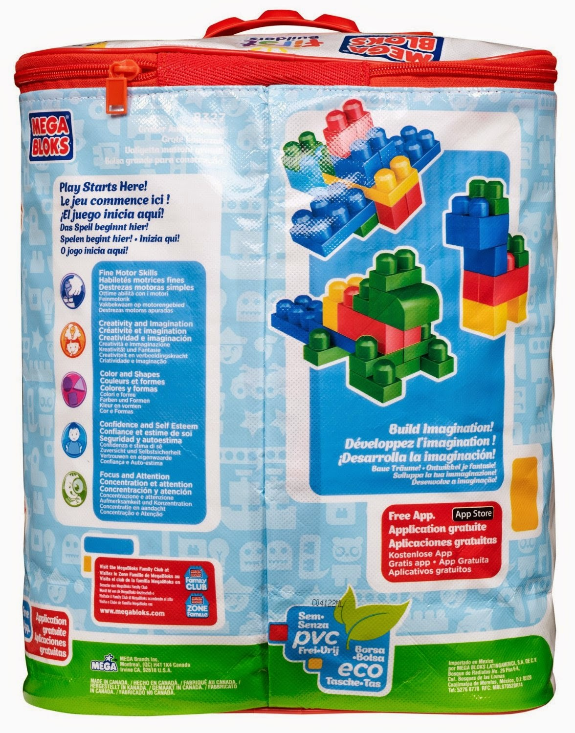 Mega Bloks First Builders Big Building Bag with 80-Piece