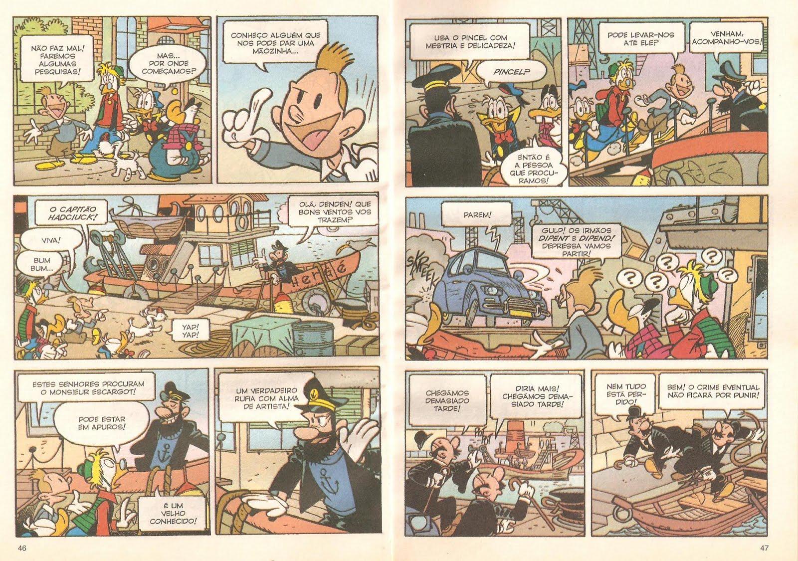 Quando Tintim encontrou o Pato Donald (Blog Tintim por Tintim) Donald+001