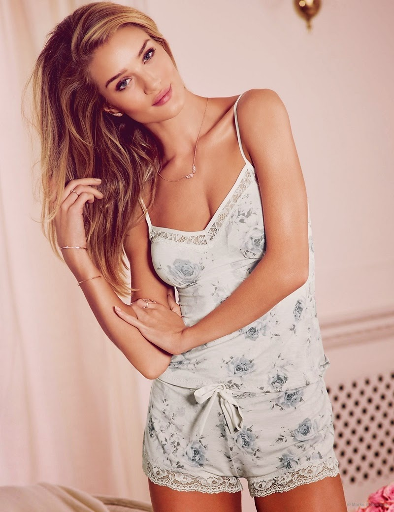 Rosie Huntington-Whiteley Models Pajamas & Lingerie for Autograph Photos