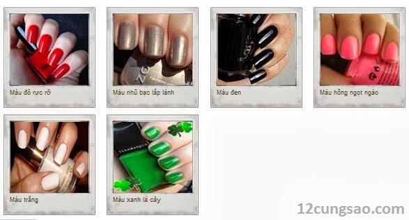 Khám phá tính cách qua màu sơn móng tay yêu thích của bạn - 12cungsao.com