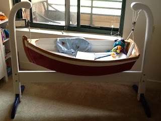 Nautical by Nature blog: Nautical Nursery sailboat cradle