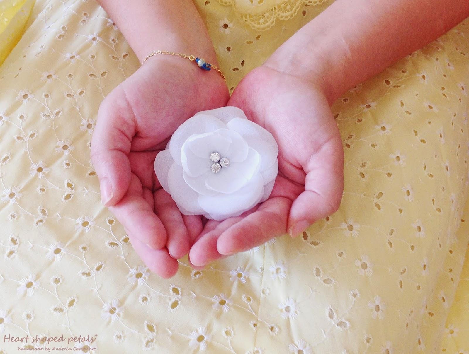 White camellia bridal hair
