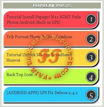 Popular Post Warna Warni (Pelangi)