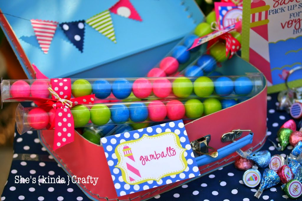 Pool Party Gift Bag Ideas find this pin and more on pool party ideas These Gumballs From Polka Dot Market Are Amaze Balls They Are Huge And They Taste Fantastic I Loaded Up 5 Tubes From Shop Sweet Lulu I Was The Lucky