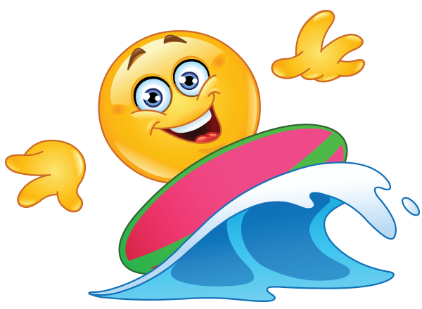 Surfer smiley