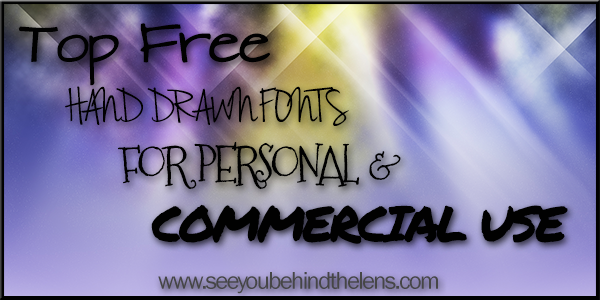 Top Free Handdrawn Fonts For Personal And Commercial Use #DakotaVisions