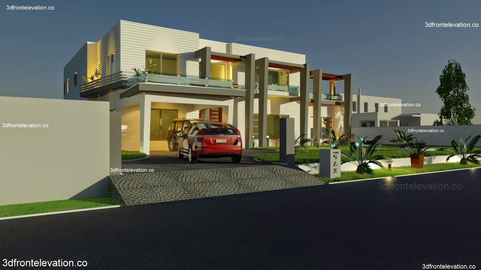 Front Elevation Of Houses Karachi : Casatreschic interior sq yard house plan d front