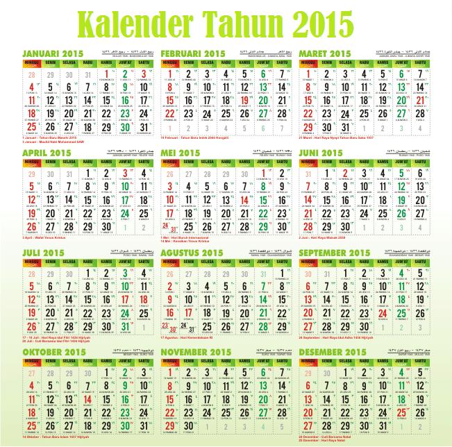 libur nasional 2015 1 januari kamis tahun baru 2015 3 januari sabtu