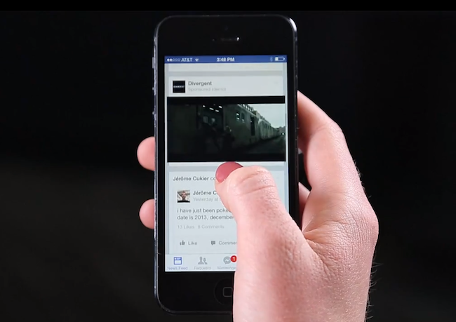disabilitare autoplay video facebook