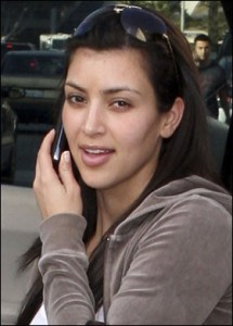 Kardashian  on Kim Kardashian No Makeup