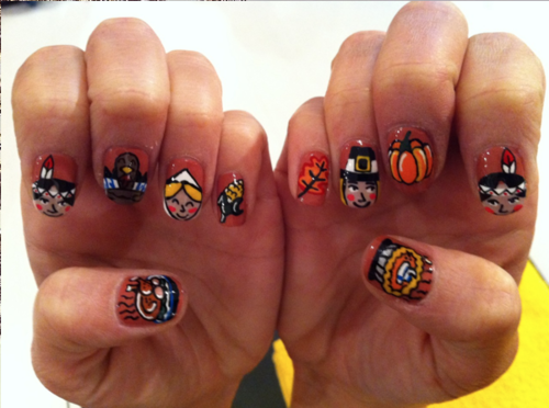Acrylic nail designs for thanksgiving