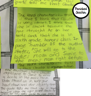 Finding Quotes in the Text to Support Thinking