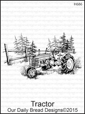 Our Daily Bread Designs stamp: Tractor