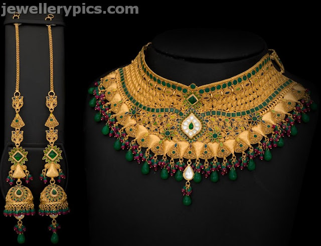 gold necklace designs from avr swarna mahal