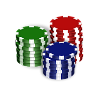 Double down - Stack of poker chips - Blackjack