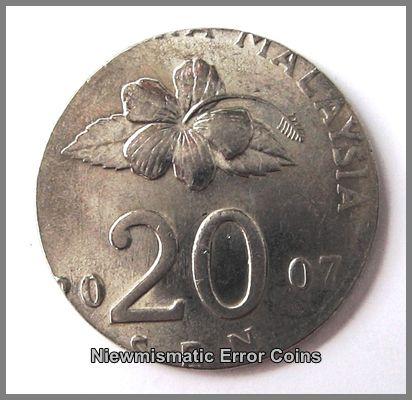 Malaysia Bunga Raya Series 2007,20 Cents Coin